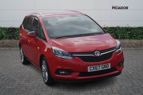 Red Vauxhall Zafira Tourer 1.4 SRi 2017