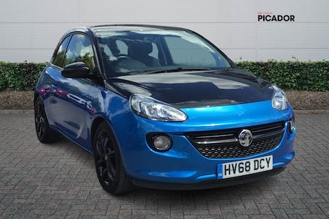 Blue Vauxhall Adam 1.2 Energised Black Jack 2018